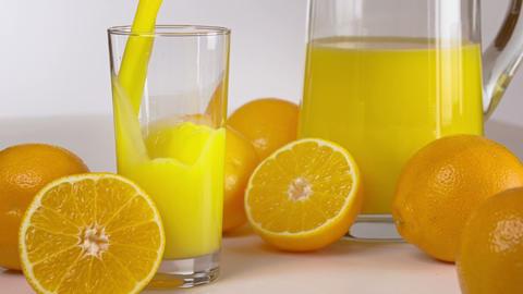 Orange Juice Being Poured Footage