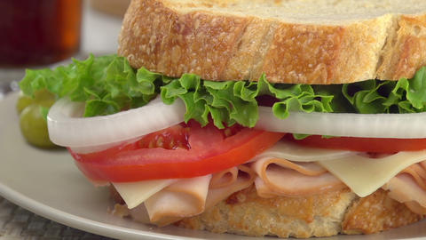 Sandwich Close-Up Panning Footage