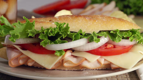 Preparing A Sandwich Slow Motion ビデオ