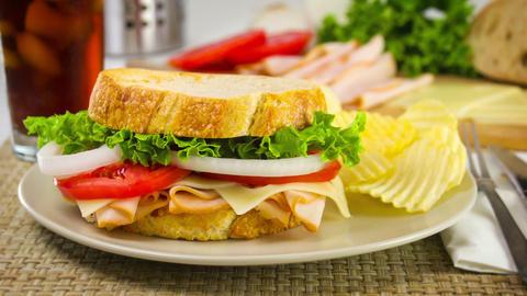 Preparing A Sandwich Slow Motion Footage