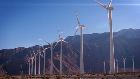 Wind Farm In California Footage