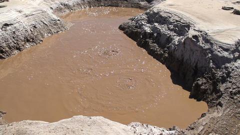 Mud Volcano Bubbling Mud Footage