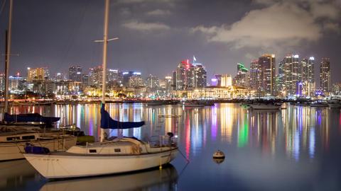 San Diego Marina Time Lapse Footage