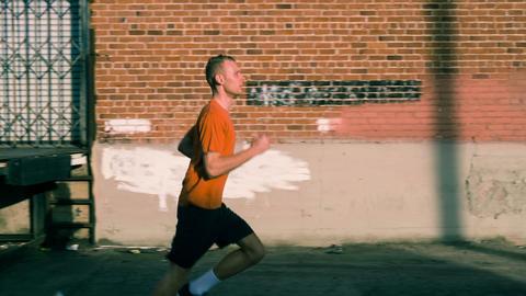 Man Running Slow-Motion Footage