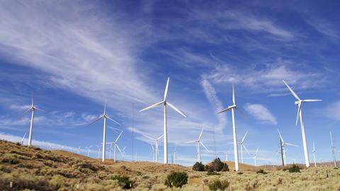 Large Wind Farm California Footage