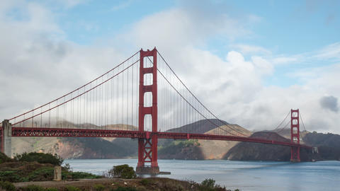 Golden Gate Bridge in San Francisco Time Lapse Footage