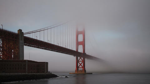 Golden Gate Bridge Fog San Francisco Footage