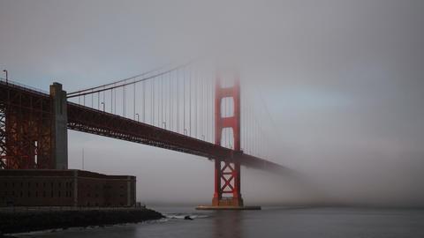 Golden Gate Bridge Fog San Francisco Footage