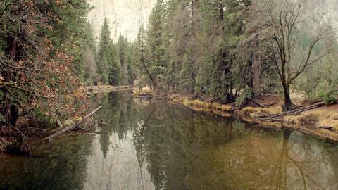 Scenic River In Yosemite National Park Footage