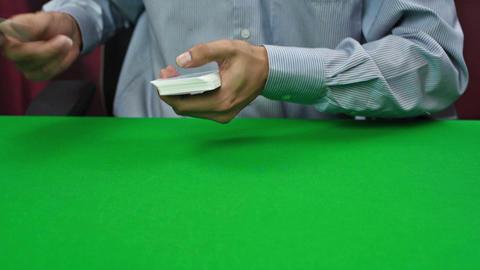 dealer dealing cards Footage