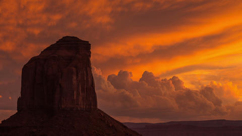 Monument Valley Twilight Clouds Time Lapse Footage