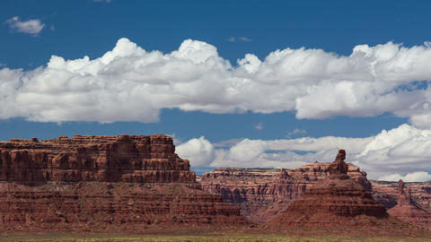 Time-Lapse Desert Clouds Valley Of The Gods Footage