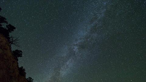 Stars Night Milky Way Time-Lapse Footage