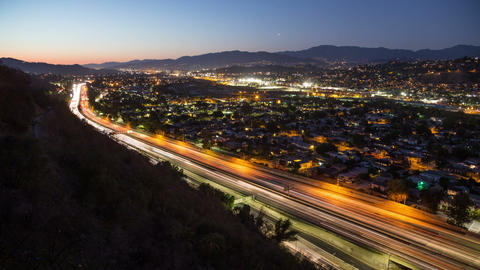 Los Angeles Freeway Traffic Time Lapse Footage
