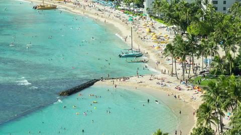 Beach Honolulu Hawaii Time Lapse Footage