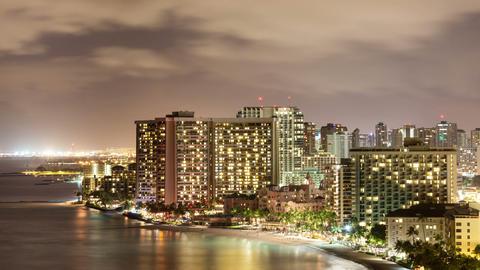 Honolulu Time Lapse Night Footage