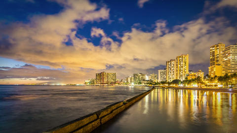 Honolulu Time Lapse Night Footage