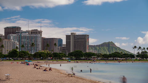 Waikiki Hawaii Beach Time Lapse Footage