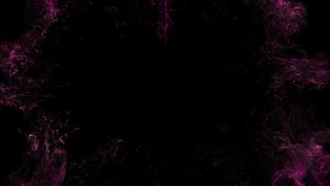 Pink magenta color shockwave heart shape Valentine's Day burst copy space 60 fps Animation