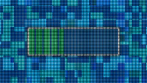Upload progress bar pixel computer screen animation Animation
