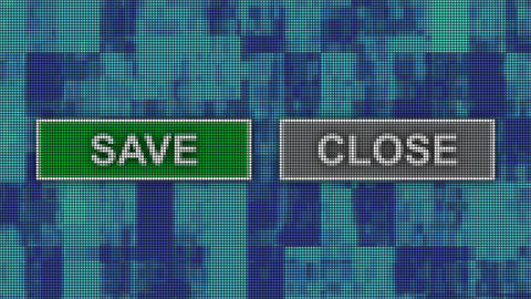 Save close buttons pixel computer screen animation Animation