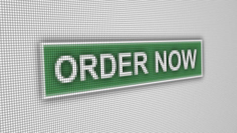 Order now button pixel computer screen animation close up Animation