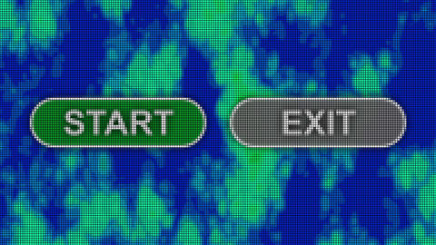 Start exit buttons pixel computer screen animation Animation