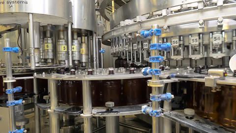 Shop for bottling beer in a brewery Live Action