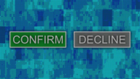 Confirm decline buttons pixel computer screen animation Animation