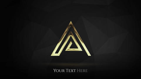Cinematic Gold Logo After Effects Template