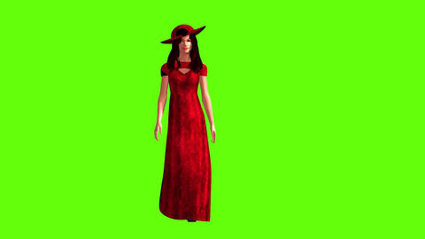 297 3d animated beatiful women greet all with women day spring etc Animation