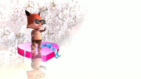 287 3d animated greeting footage for love and womens day Animation