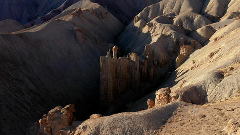 Aerial shot of rock formations near Grand Junction Colorado Live Action