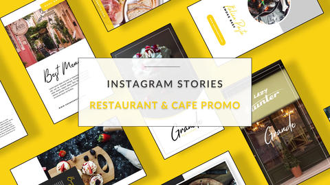Instagram Stories: Restaurant & Cafe Promo After Effects Template