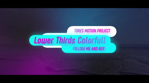 Lower Thirds Colorful After Effects Template
