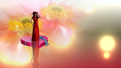 286 3d animated greeting footage about love and womens day Animation