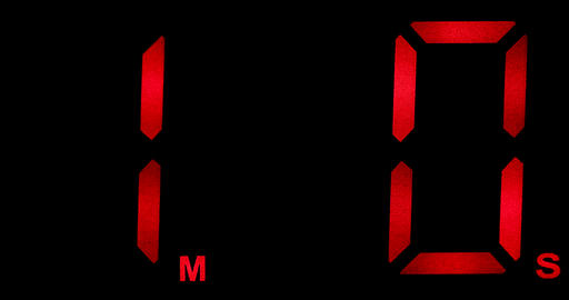Countdown Clock Real 60 Seconds Live Action