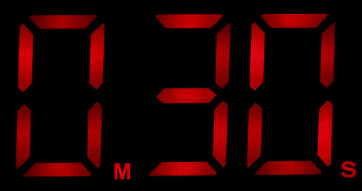 Countdown Clock Real 30 Seconds Live Action