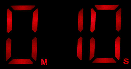 Countdown Clock Real 10 Seconds Live Action