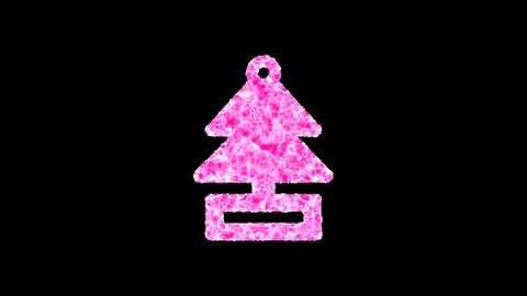 Symbol air freshener - tree shimmers in three colors: Purple, Green, Pink. In - Out loop. Alpha Animation