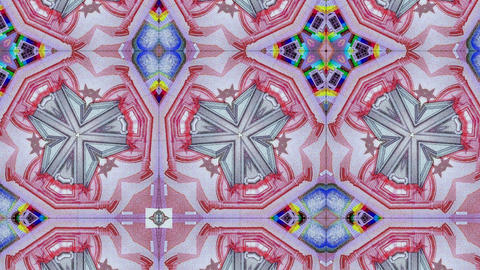 kaleidoscope pattern of euro banknote, ideal footage for representing money and Live Action