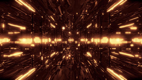 lost place abstrract space galaxy with glowing spheres 3d illustration live Animation