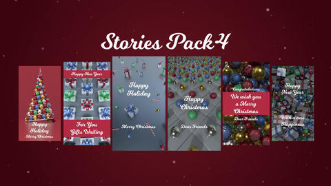 Stories Pack 4: Christmas Plantillas de Premiere Pro