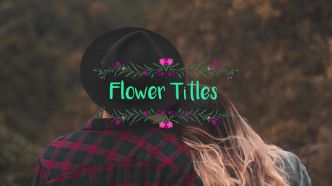 Flower Titles Premiere Pro Template