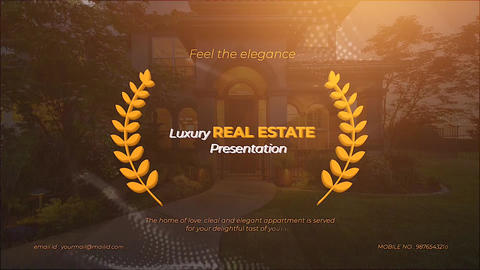 Luxury Real Estate Presentation Apple Motion Template