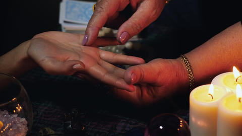 Fortune teller palm reading Live Action