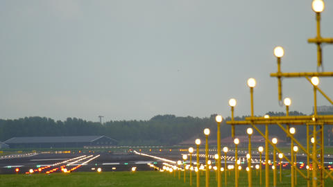Empty runway at Amsterdam airport Live Action