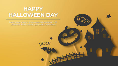 Halloween Flat Title Motion Graphics Template