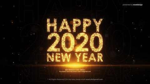 New Year Count Down After Effects Template