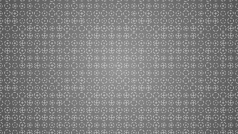Rotating white crosses and circles animated gray background Animation